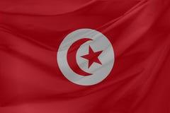 απεικόνιση Τυνησία σημαιών κυματιστή Στοκ Εικόνα