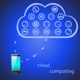 Απεικόνιση των έξυπνων εικονιδίων τηλεφωνικών εργαλείων Ελεύθερη απεικόνιση δικαιώματος