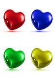 Απεικόνιση των λαμπρών καρδιών Στοκ εικόνα με δικαίωμα ελεύθερης χρήσης