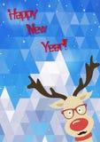 Απεικόνιση των αστείων ελαφιών Χριστουγέννων Στοκ φωτογραφία με δικαίωμα ελεύθερης χρήσης