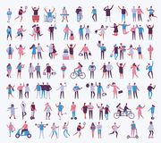 Απεικόνιση των διαφορετικών ανθρώπων δραστηριοτήτων Διανυσματική απεικόνιση