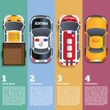 Απεικόνιση των διαφορετικών αυτοκινήτων Στοκ Εικόνα