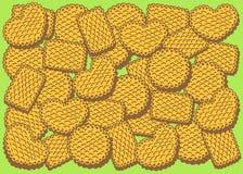 Απεικόνιση των διαφορετικών μπισκότων μπισκότων Στοκ Εικόνες