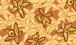 Απεικόνιση των κίτρινων λουλουδιών βανίλιας στο υπόβαθρο λουλουδιών Στοκ εικόνες με δικαίωμα ελεύθερης χρήσης