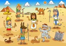 Απεικόνιση των κινούμενων σχεδίων παιδιών της Αιγύπτου Στοκ Εικόνες