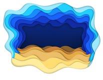Απεικόνιση των κυμάτων πυθμένων της θάλασσας και άμμου Στοκ φωτογραφία με δικαίωμα ελεύθερης χρήσης