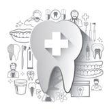 Απεικόνιση των οδοντικών εικονιδίων καθορισμένων Στοκ φωτογραφίες με δικαίωμα ελεύθερης χρήσης