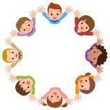 Απεικόνιση των παιδιών που διαμορφώνουν έναν κύκλο απεικόνιση αποθεμάτων