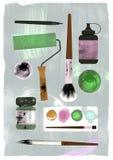 Απεικόνιση των προμηθειών τέχνης Texture effect Στοκ Εικόνες