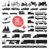 Απεικόνιση των στοιχείων μεταφορών Μεταφορά πόλεων Στοκ εικόνες με δικαίωμα ελεύθερης χρήσης