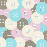 Απεικόνιση των στρογγυλών ζωηρόχρωμων κουμπιών για τα ενδύματα Στοκ εικόνα με δικαίωμα ελεύθερης χρήσης