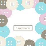 Απεικόνιση των στρογγυλών ζωηρόχρωμων κουμπιών για τα ενδύματα Απεικόνιση αποθεμάτων