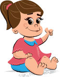 Απεικόνιση των χαριτωμένων παιδιών κοριτσάκι Στοκ Εικόνες