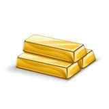 απεικόνιση των χρυσών φραγμών στο άσπρο υπόβαθρο Απεικόνιση αποθεμάτων