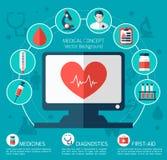 Απεικόνιση υγείας και ιατρικής φροντίδας Στοκ Εικόνες