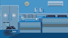Απεικόνιση υποδοχής νοσοκομείων Στοκ Εικόνα