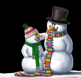 Απεικόνιση φίλων χιονανθρώπων Στοκ εικόνες με δικαίωμα ελεύθερης χρήσης