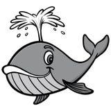 Απεικόνιση φαλαινών διανυσματική απεικόνιση