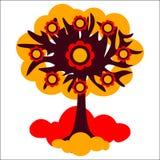 Απεικόνιση φθινοπώρου δέντρων Στοκ φωτογραφίες με δικαίωμα ελεύθερης χρήσης