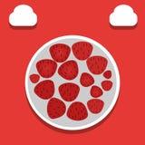 Απεικόνιση φραουλών - διάνυσμα απεικόνιση αποθεμάτων
