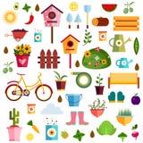 Απεικόνιση φύσης σχεδίων κήπων Στοκ Εικόνα