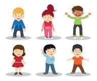 Απεικόνιση χαρακτήρα κινουμένων σχεδίων παιδιών - διάνυσμα ελεύθερη απεικόνιση δικαιώματος