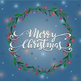 Απεικόνιση χειμερινών στεφανιών Χαρούμενα Χριστούγεννας Στοκ φωτογραφία με δικαίωμα ελεύθερης χρήσης