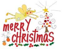 απεικόνιση Χριστουγέννων εύθυμη Στοκ Εικόνες