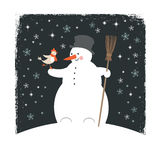 Απεικόνιση Χριστουγέννων, κάρτα Χριστουγέννων Στοκ Εικόνα