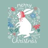 Απεικόνιση Χριστουγέννων, κάρτα Χριστουγέννων Στοκ Φωτογραφίες