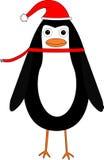 απεικόνιση Χριστουγέννων κινούμενων σχεδίων penguin Στοκ Φωτογραφία