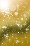 Απεικόνιση Χριστουγέννων με λάμποντας snowflakes Στοκ φωτογραφία με δικαίωμα ελεύθερης χρήσης