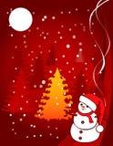 Απεικόνιση Χριστουγέννων - χιονιά διανυσματική απεικόνιση