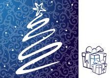 Απεικόνιση Χριστουγέννων - χριστουγεννιάτικο δέντρο. διανυσματική απεικόνιση