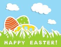 απεικόνιση χλόης αυγών Πάσχας σχεδίου καρτών Στοκ φωτογραφία με δικαίωμα ελεύθερης χρήσης