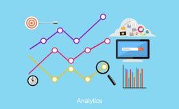 Απεικόνιση Analytics Επίπεδες έννοιες απεικόνισης σχεδίου για την επιχείρηση Στοκ Εικόνα