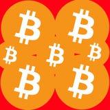 Απεικόνιση Bitcoin στα πορτοκαλιά χρώματα Ελεύθερη απεικόνιση δικαιώματος