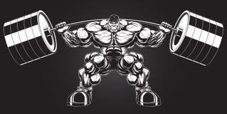 Απεικόνιση: bodybuilder με ένα barbell Στοκ φωτογραφίες με δικαίωμα ελεύθερης χρήσης