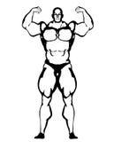 Απεικόνιση Bodybuilder Στοκ φωτογραφία με δικαίωμα ελεύθερης χρήσης