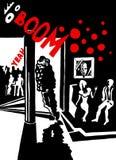 Απεικόνιση comics λεσχών Στοκ φωτογραφία με δικαίωμα ελεύθερης χρήσης