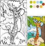 Απεικόνιση giraffe κινούμενων σχεδίων διάνυσμα Στοκ Εικόνα