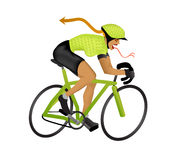 απεικόνιση girlzilla ποδηλατών Στοκ Εικόνα