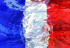 Απεικόνιση Grunge της γαλλικής σημαίας Υπόβαθρο Στοκ Φωτογραφίες