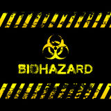 Απεικόνιση Grunge biohazard Στοκ εικόνα με δικαίωμα ελεύθερης χρήσης