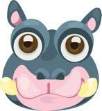 απεικόνιση hippo προσώπου Στοκ Εικόνες