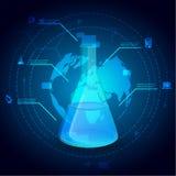 Απεικόνιση infographics φιαλών χημείας επίσης corel σύρετε το διάνυσμα απεικόνισης Στοκ Εικόνες