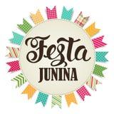 Απεικόνιση Junina Festa βαλμένο σε στρώσεις αρχείο διάνυσμα εμβλημάτων eps10 Λατινοαμερικάνικες διακοπές Στοκ εικόνες με δικαίωμα ελεύθερης χρήσης