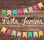 Απεικόνιση Junina Festa - παραδοσιακό κόμμα φεστιβάλ της Βραζιλίας Ιούνιος Στοκ Φωτογραφίες