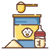 Απεικόνιση LineColor γαλάτων σε σκόνη μωρών διανυσματική απεικόνιση