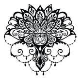 Απεικόνιση Lotus δερματοστιξιών διανυσματική απεικόνιση
